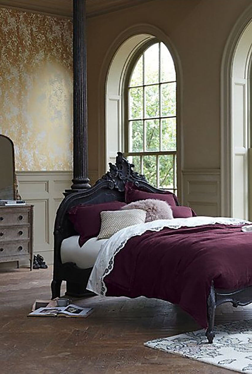 Change your bed sheets to bring romance to the room.