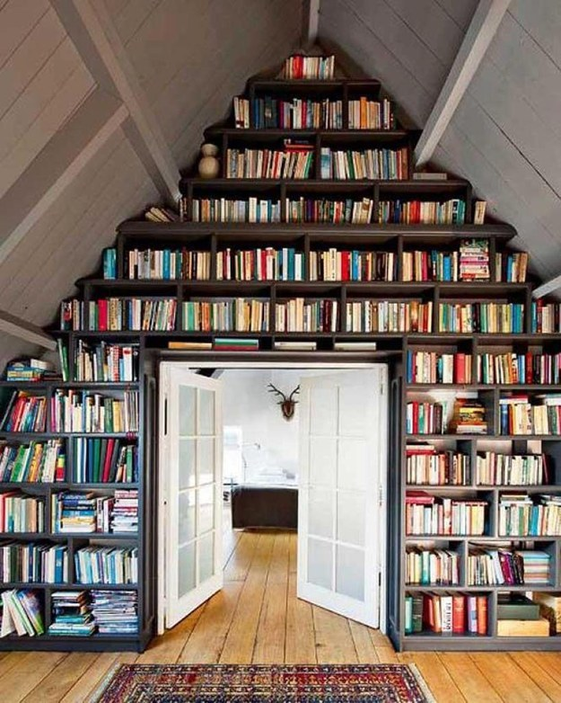 Transform your attic into a reading haven.