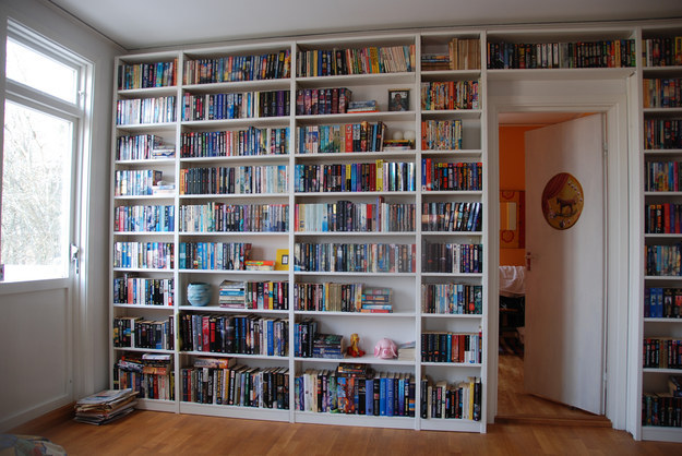 A wall of books, no less.