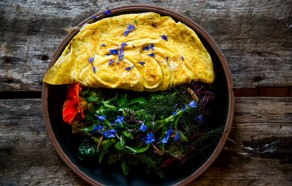 "To paraphrase Mario Puzo, ""Leave the flowers, eat the omelette."" Image source https://www.bonappetit.com/recipe/chases-daily-omelet"