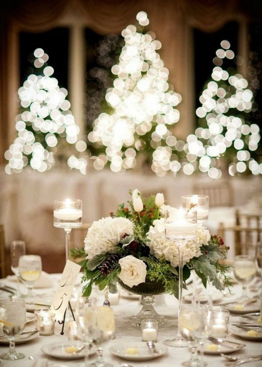 Christmas flowers to bring joy and peace to your home White christmas centerpieces