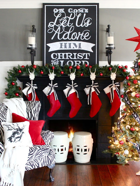 diy-christmas-mantel-art