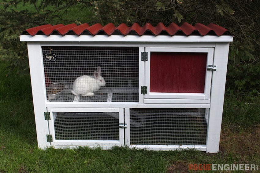 If you love building things from scratch, this DIY rabbit hutch is for you!