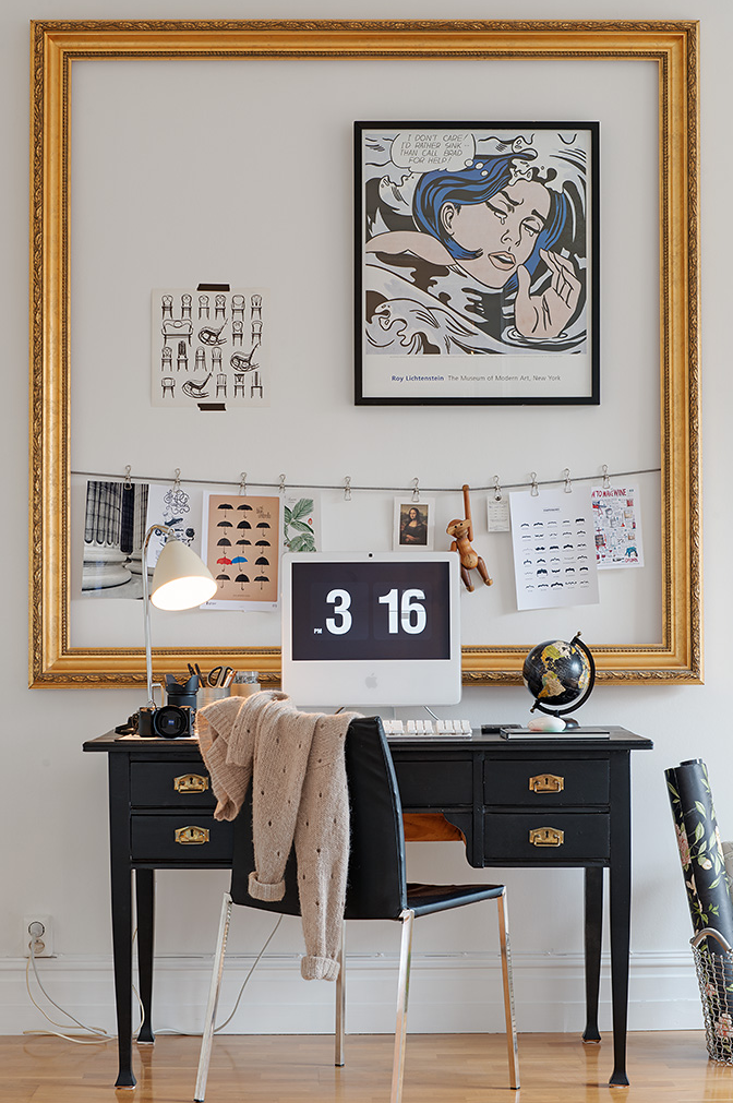 use a big frame to encase little objects