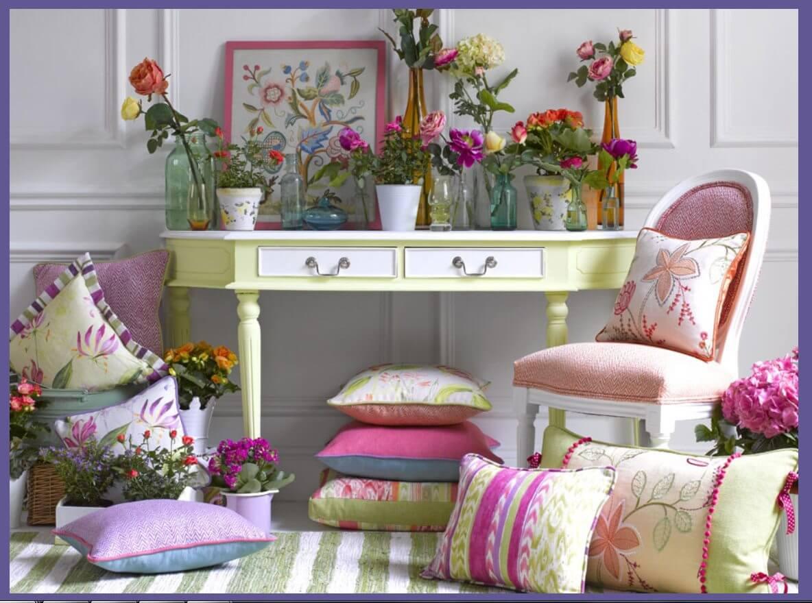 Colors everywhere! Go full springtime!