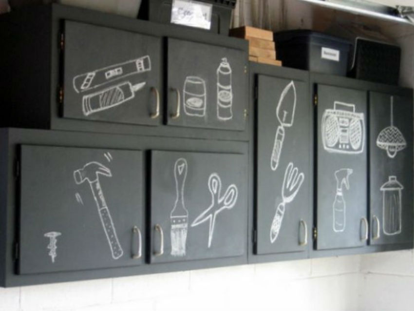 Labelling boxes and cabinets will save you precious time. Get creative. Image Source: Shelving Units