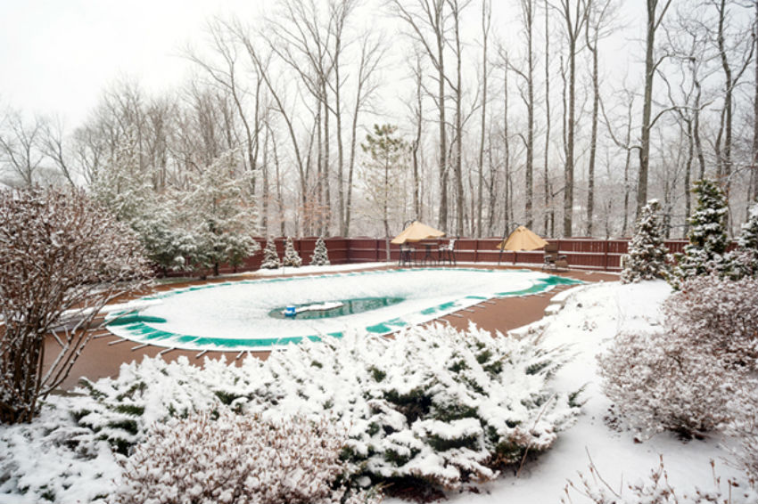 Pool closing will guarantee it will look great when the temperature rises again. Image Source: Pool & Spa Depot
