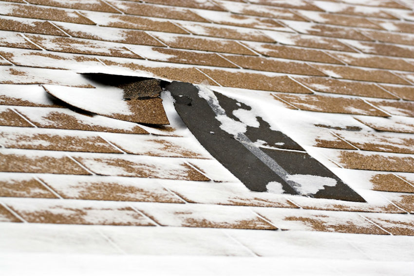 Have your roof at least visually checked for loose shingles and debris. Image Source: Dry Home