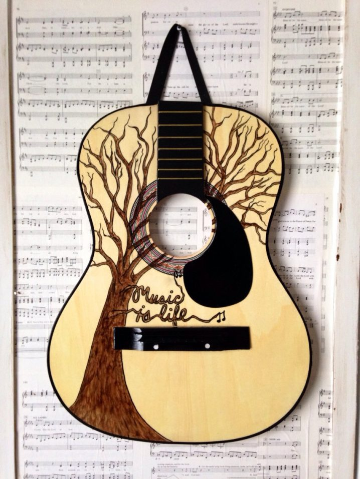 Guitars bring joy to life and can become unique decor items. Image Source: Top Dreamer