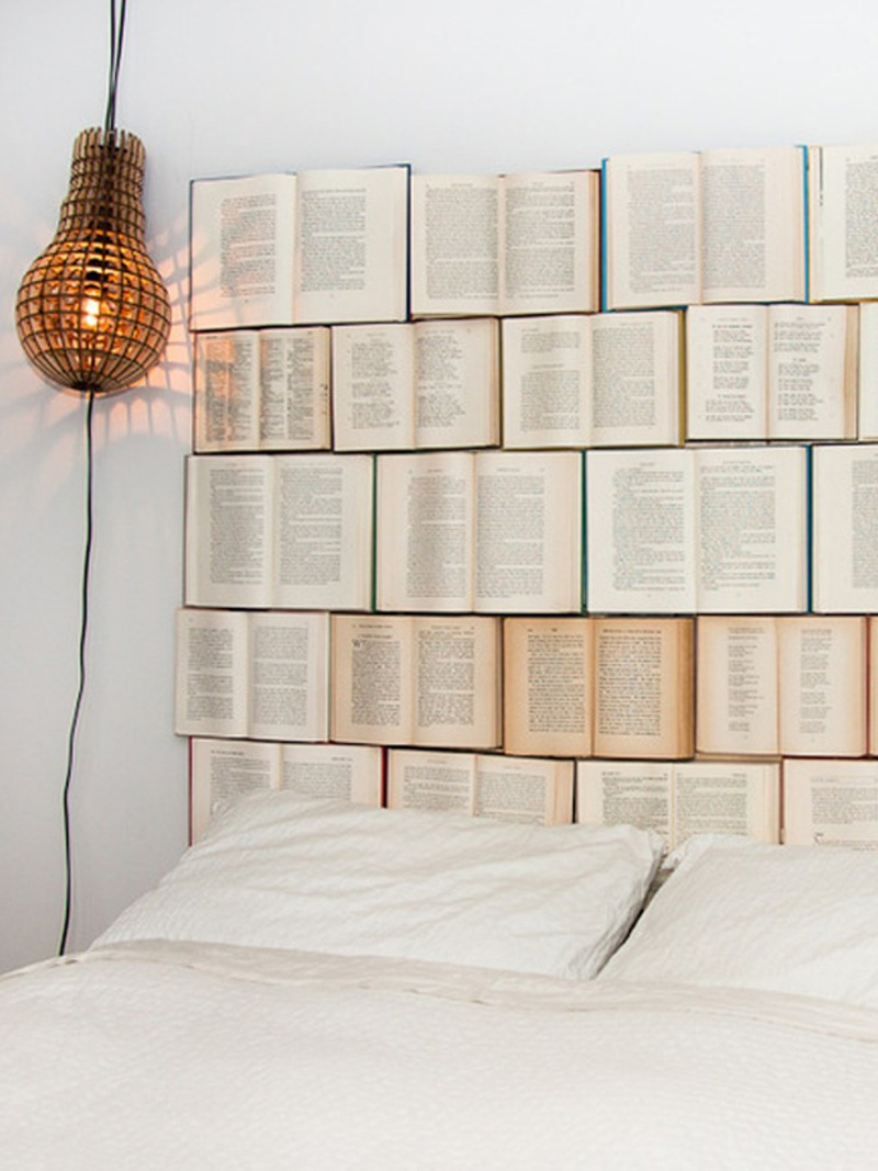 Books are the best companion. Via Apartment Therapy.