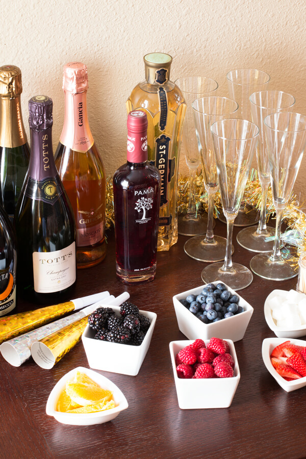 There are many ingredients you can have to create champagne cocktail masterpieces!