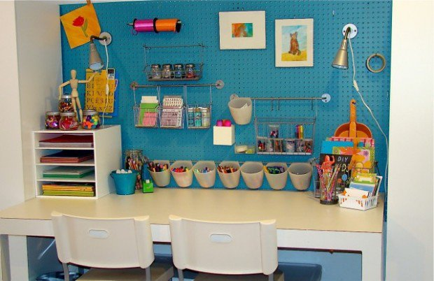 Keeping all of the basics and necessities close at hand is essential for creating a productive study space for your child.