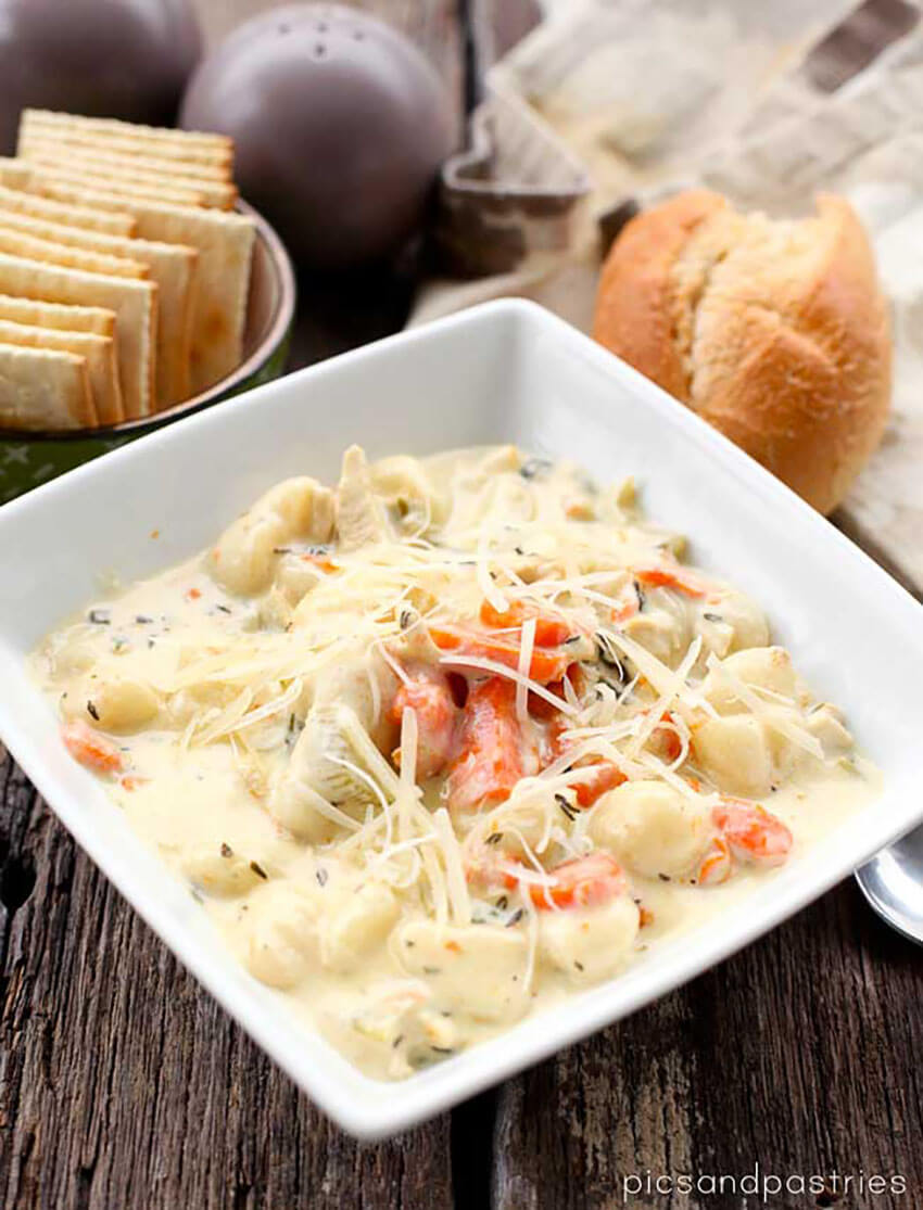 This creamy soup combines all your favorite ingredients!