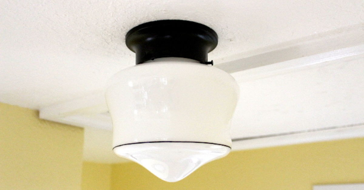 Inexpensive standardized light fixtures will make your house more appealing at sale time. Image Source: Home Talk