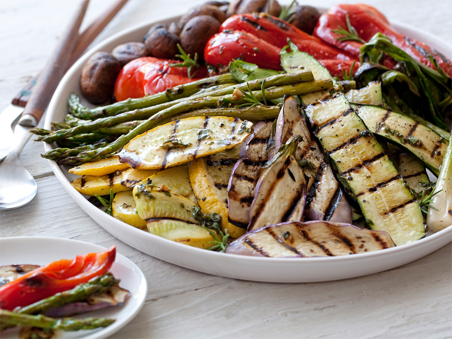 Use your local, fresh vegetables to make a wonderful mixed grilled vegetable dish.