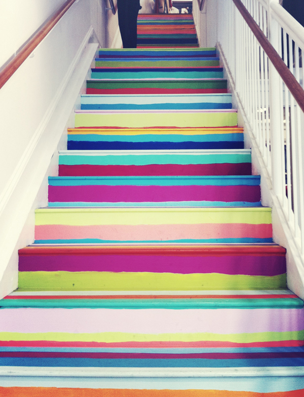 paint your stairs to make them pop
