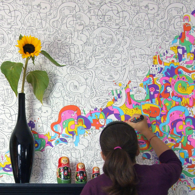 get color-in wallpaper and then color it in