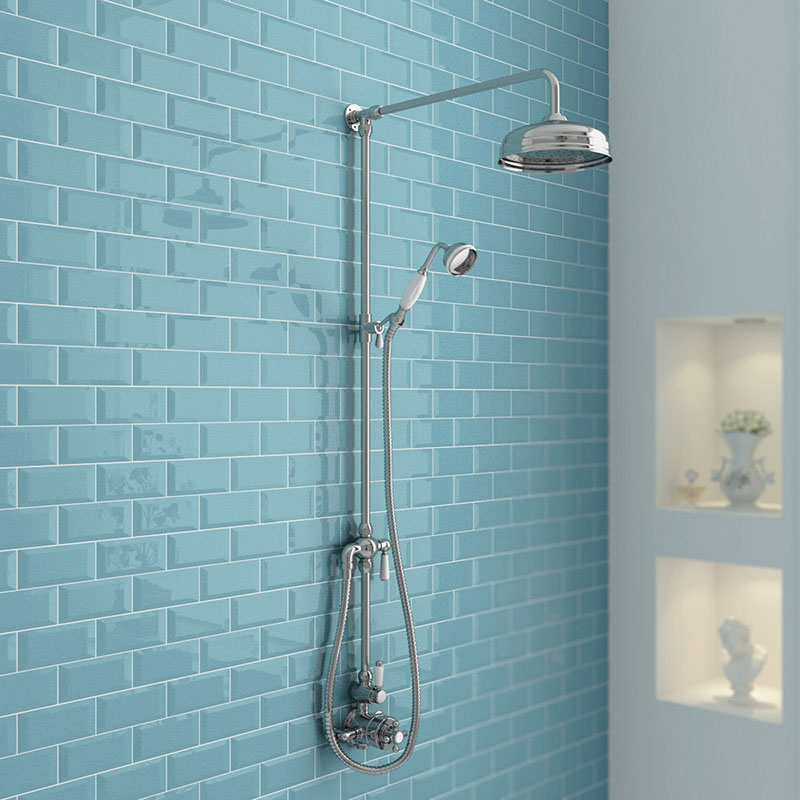 exposed shower plumbing