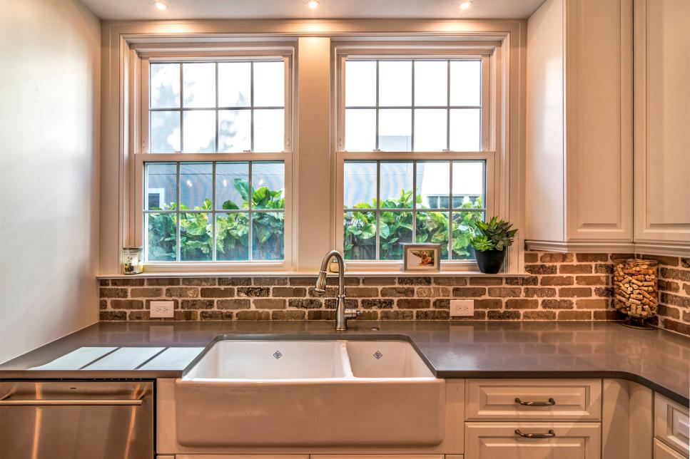 Stone brings a rustic look that matches most modern homes. Source: HGTV