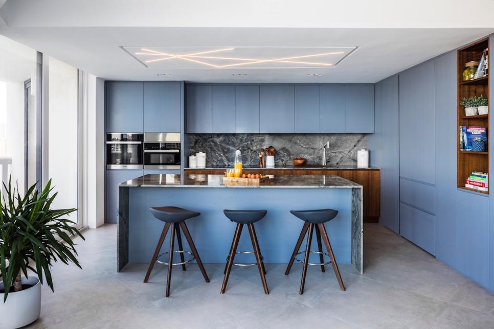 Concrete flooring looks very sleek. Source: HGTV