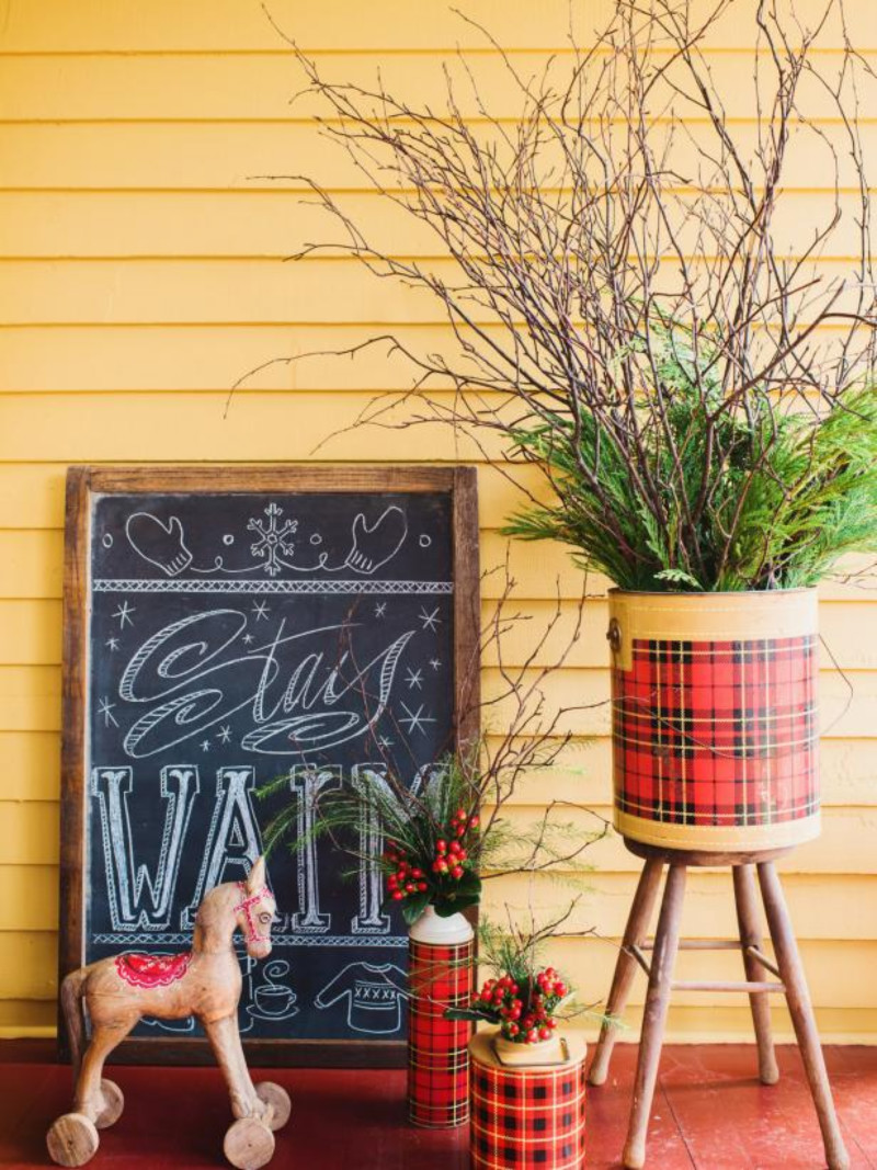 Plaid is also a perfect pic for holiday decor. Source: Great American Country