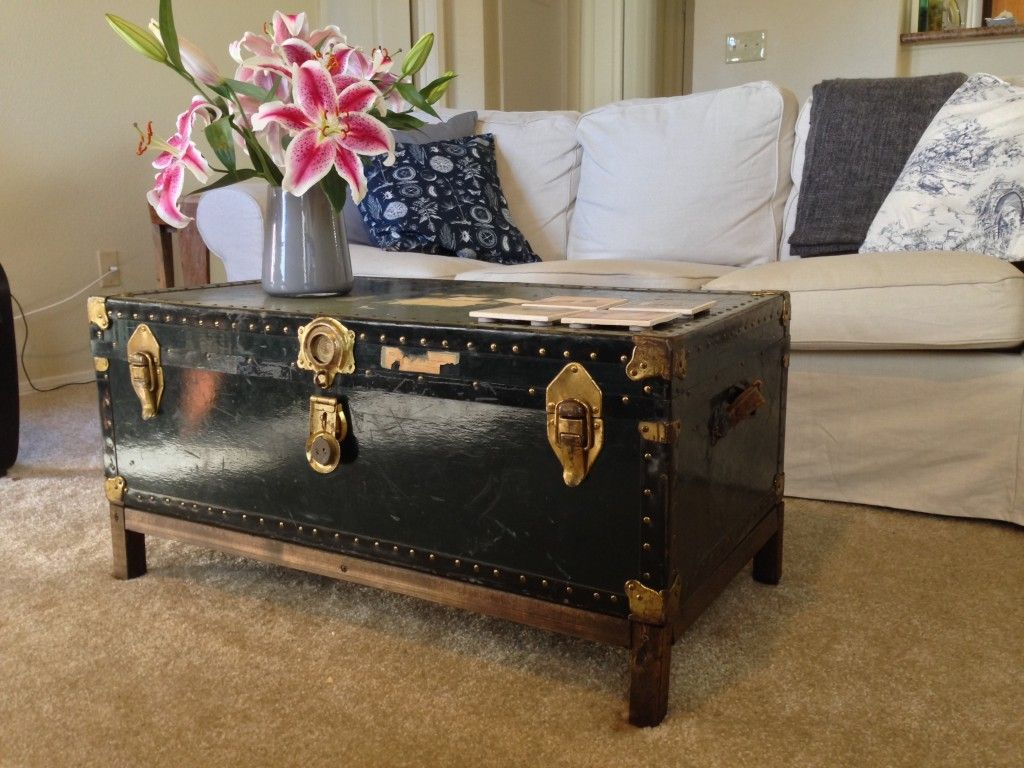 A storage trunk used as a coffee table. Source: Courtney G.