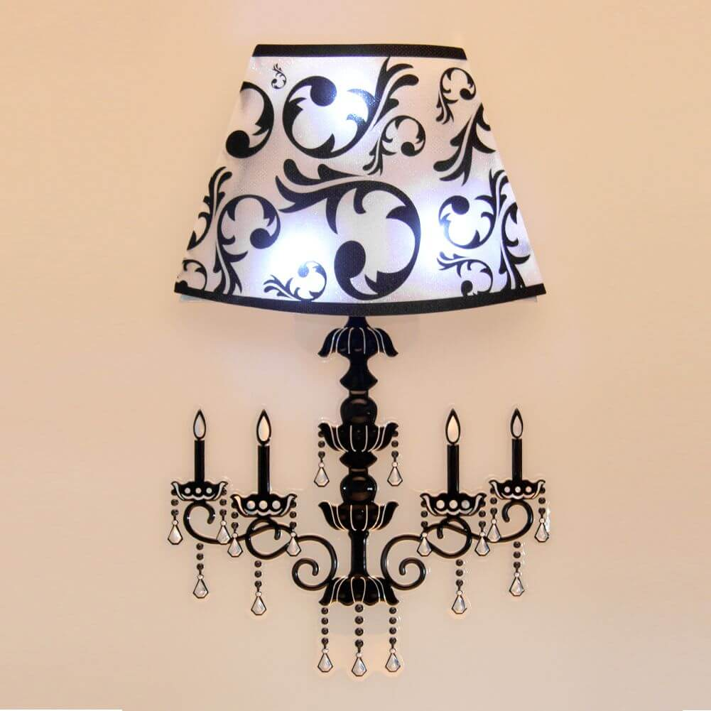 Try stickers on your lamp shade to create an entirely new look for the piece