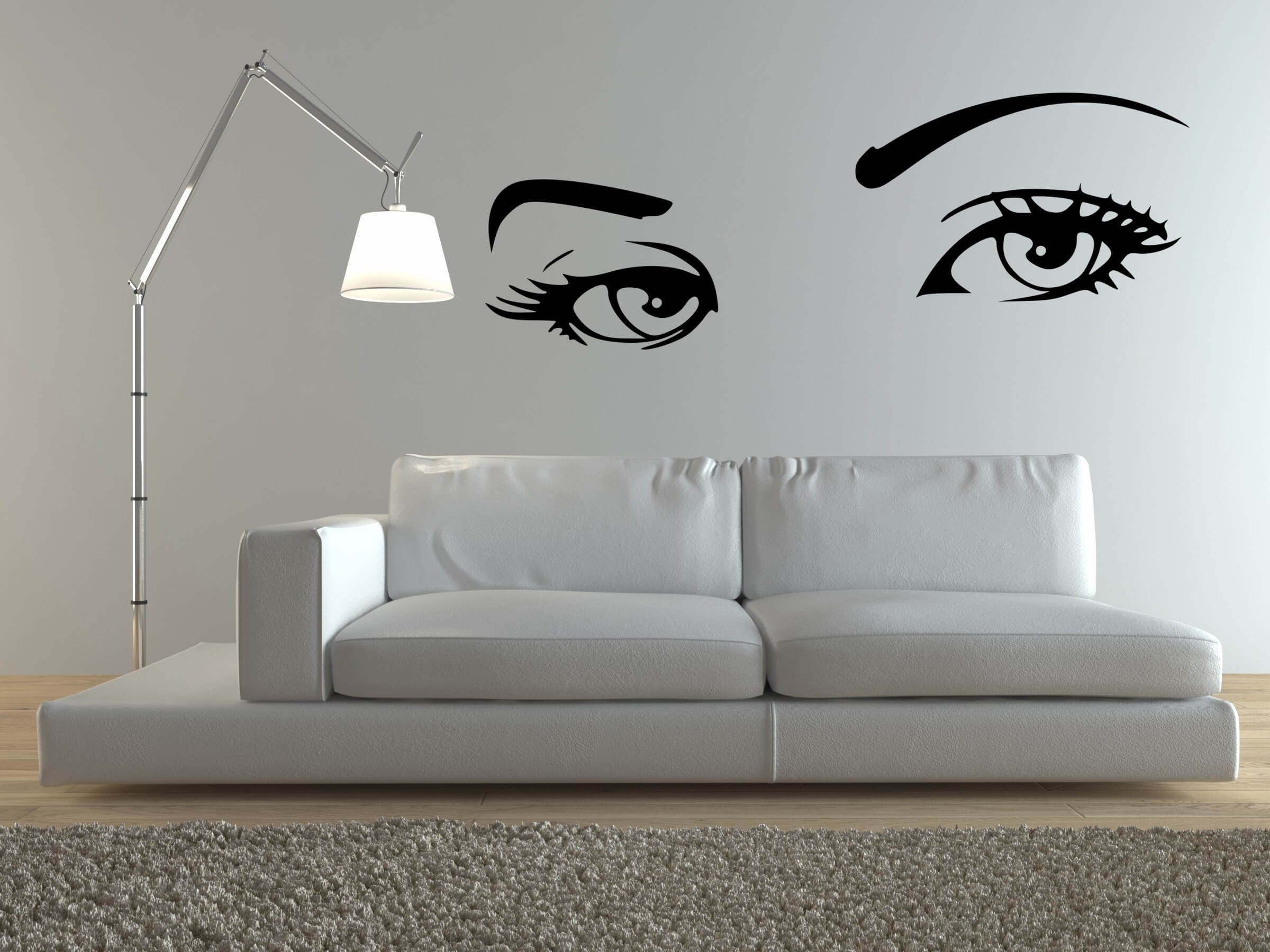 Art in the living room walls. Source https://howtofurnish.com/wall-decals/